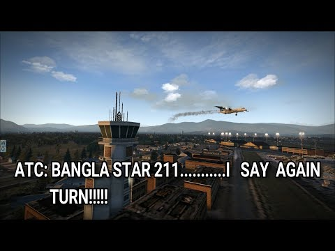 US-Bangla 211 crash at Kathmandu [X-Plane 11]