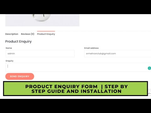 Product Enquiry Form  | Step By Step Guide and Installation
