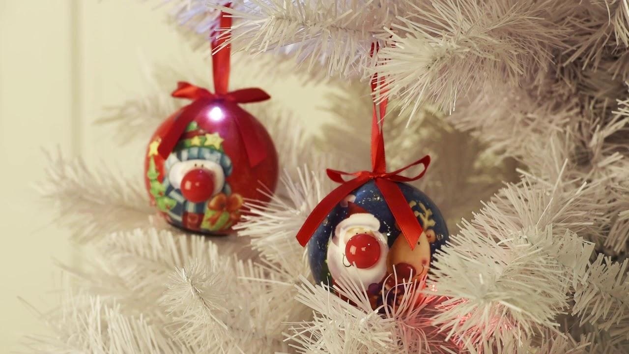 Lustige Weihnachtskugeln.Boules De Noël Leds Rigolotes 7 Pièces New Witzige Led Weihnachtskugeln 7 Stück Vedia Ch