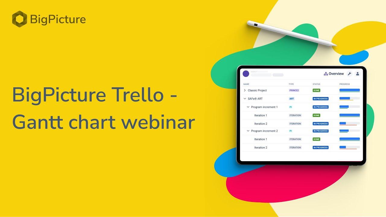 Picture Trello Gantt Chart Webinar