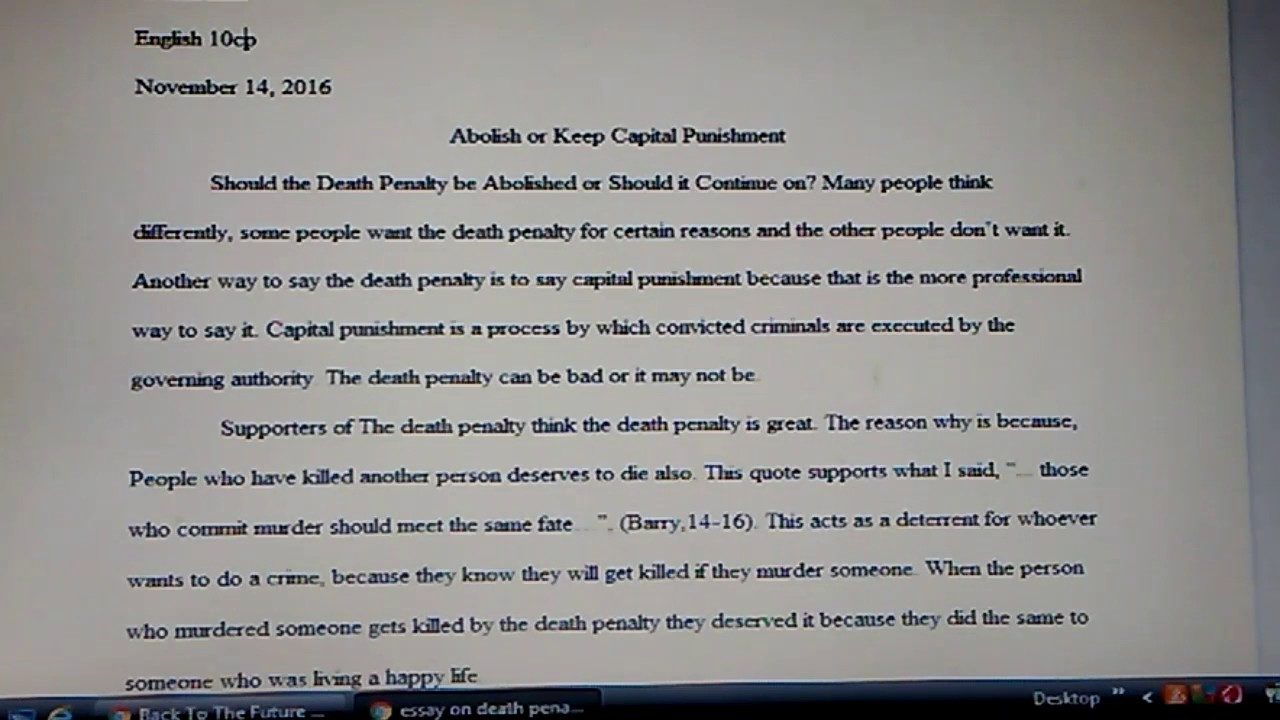 essay on why death penalty should be abolished Death penalty should not be abolished essay another reporter shows that the korea has abolished the death penalty for seven years.