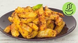 Fırında Baharatlı Patates Kızartması - Fırında Patates Tarifi