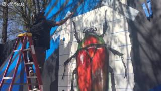 Millwood mural brings needed splash of color, life
