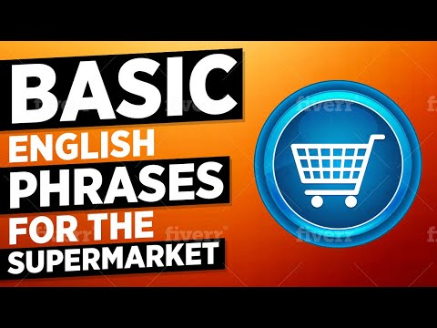 Basic English Phrases for the Supermarket