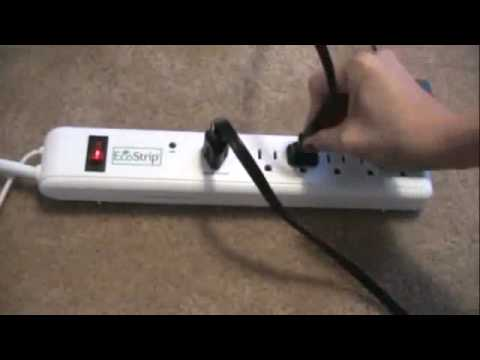 EcoStrip USB Energy Saving Surge Protector, Smart Power Strip. Be Responsible...Power Down!