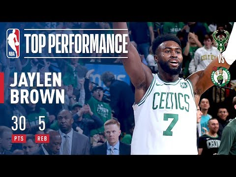 Jaylen Brown Sets A Playoff Career High With 30 Points