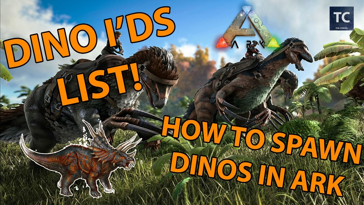 Dino id list design templates ark dino idu0027s ark dino ids list for admins how to spawn dinos xbox ps4 malvernweather Gallery