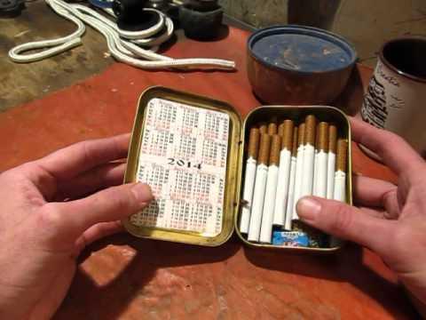 Как сделать коробок для сигарет 194