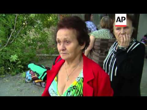 Shelling hits hospital building in rebel-held city of Donetsk, hours before victory parade