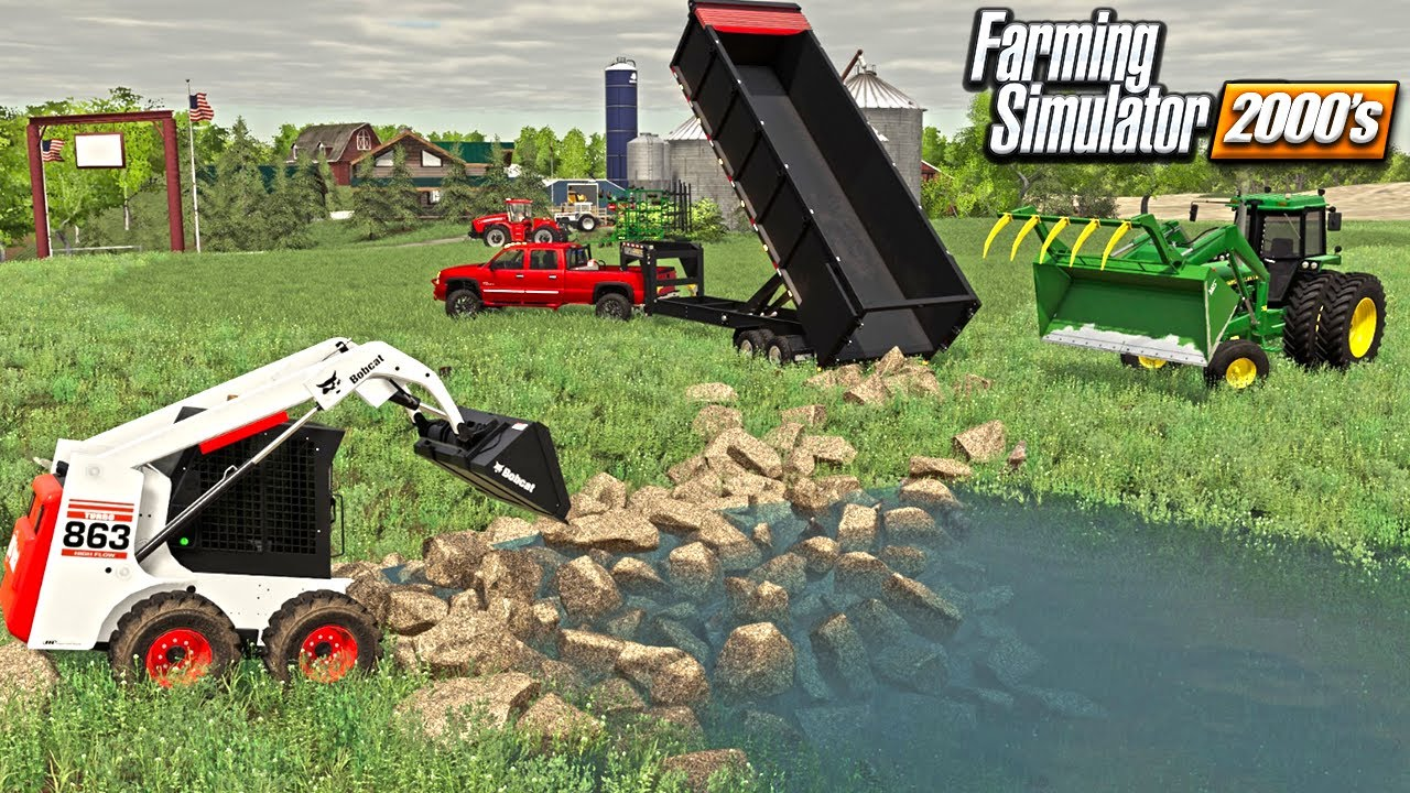 IRRIGATION ROCK DAM BUILD FROM SCRATCH | NEW DURAMAX (ROLEPLAY) FARMING SIMULATOR 19 2000 ERA
