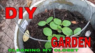 THE GARDEN & GETTING RID OF CLOTHES,