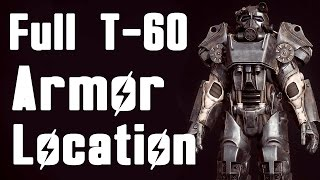 Fallout 4: How to get Full T-60 Power Armor Early (2ND BEST ARMOR Location)