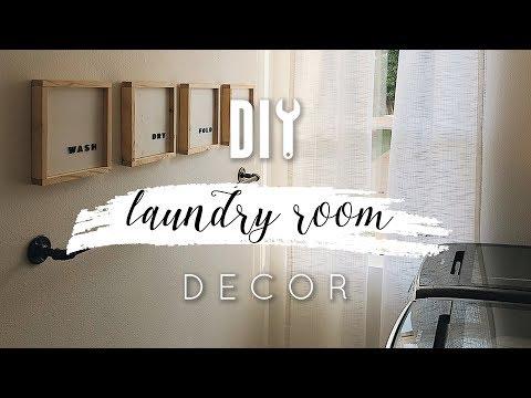 Easy DIY Laundry Room Decor