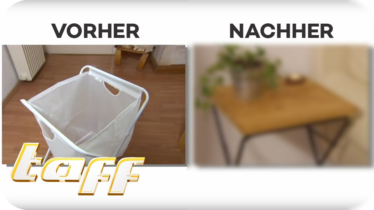 beistelltisch aus w schekorb die ultimativen ikea hacks taff prosieben youtube. Black Bedroom Furniture Sets. Home Design Ideas