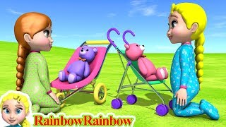 Lily & Mimy Have Fun with Teddy Bear ❤ 3d Cartoon & Music For Kids & Children