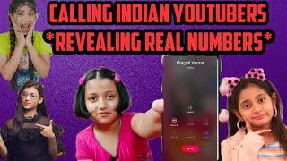 Calling famous Indian Youtubers|Real number of Mymissanand,Pragati verma,Aayu Pihu show,Samreen Ali