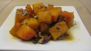 Butternut Squash with Pecans and Maple Syrup -- Lynn's Recipes