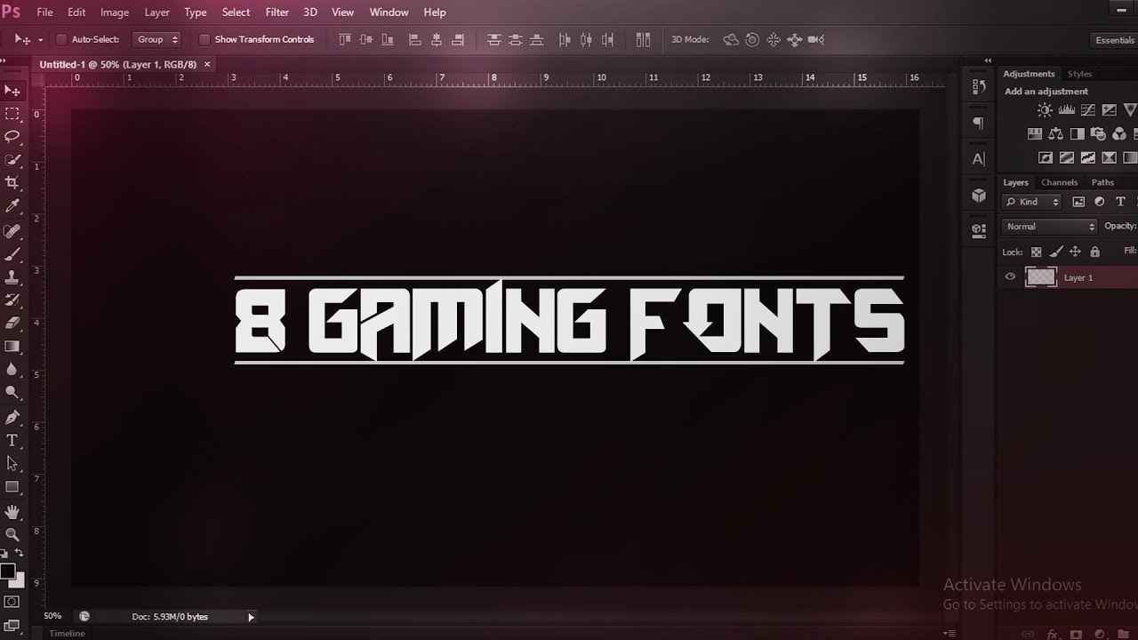 8 BEST GAMING FONTS for Graphic Design (Thumbnails, Banners & More) (2018)