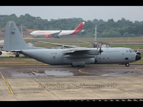 [HD] MAO - Argentina Air Force Lockheed L-100-30 Hercules Manaus SBEG