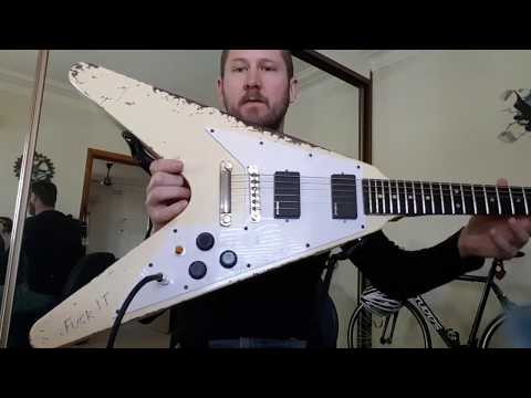 Out Of The Box - AliExpress 10S Guitars James Hetfield Flying V Review - Part 1 (Eb Tuning)