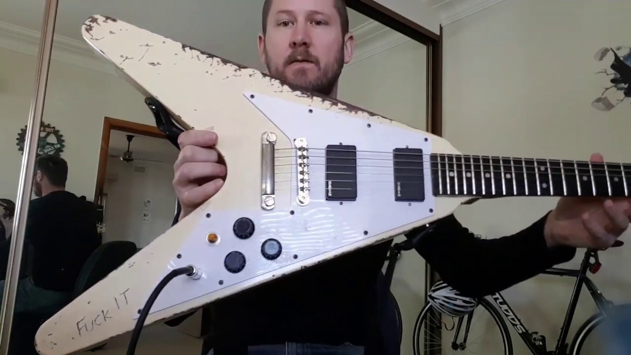 out of the box aliexpress 10s guitars james hetfield flying v review part 1 eb tuning. Black Bedroom Furniture Sets. Home Design Ideas