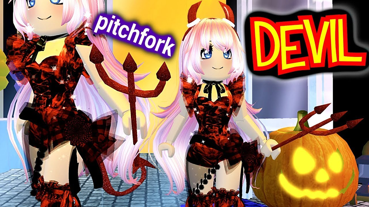 roblox demon tail How To Get Devil Pitchfork Royale High Halloween 2019 Candy Hunt Angelicamou S Homestore Roblox Youtube