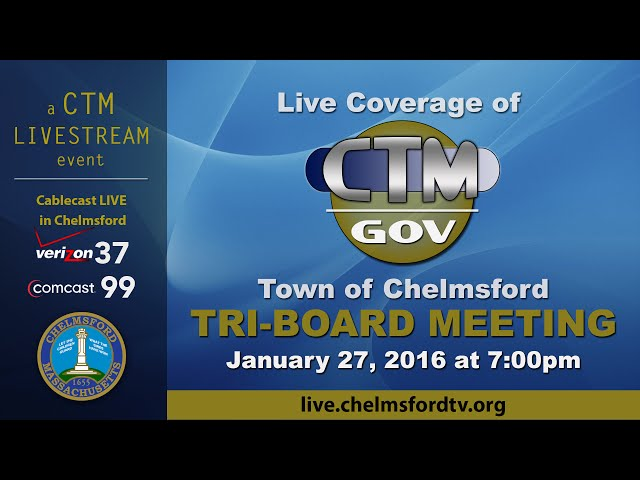 Chelmsford Tri-Board Committee Jan. 27, 2016