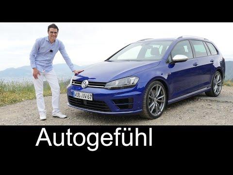 New Golf R Variant 2016 FULL REVIEW test driven DSG AWD 300 hp HOT ESTATE - Autogefühl