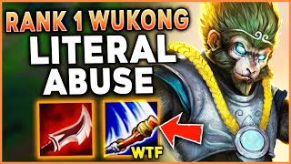#1 WUKONG WORLD EMBARRASSES ENEMY ORIANNA (HUGE STOMP) - League of Legends