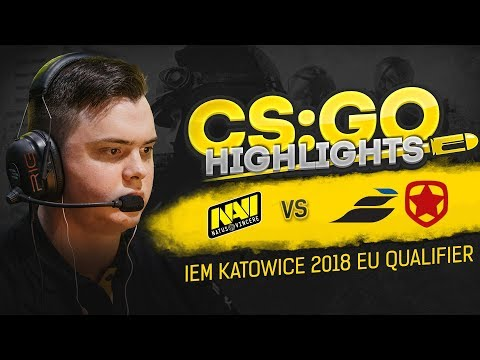 CSGO Highlights: NAVI vs Epsilon, Gambit @ IEM Katowice 2018 EU Qualifier