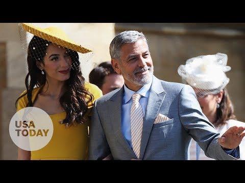 George and Amal Clooney, Beckhams arrive at royal wedding