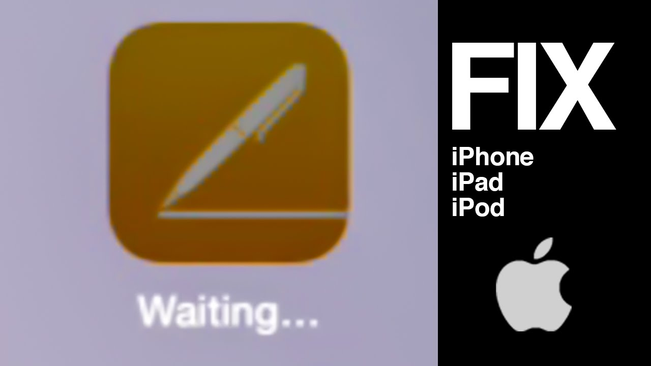 iphone apps waiting downloading apps stuck on waiting iphone ipod how to 8147