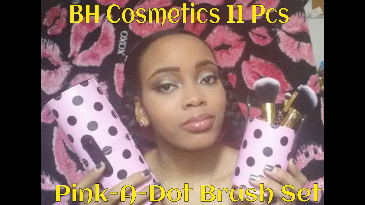 a3ce63fc3af9 BH Cosmetics 11 Pcs Pink-A-Dot Brush Set Review - YouTube