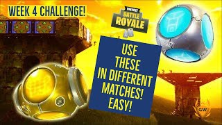 Use a Port o Fort or Port a Fortress in Different Matches! WEEK 4 CHALLENGES FORTNITE SEASON 6