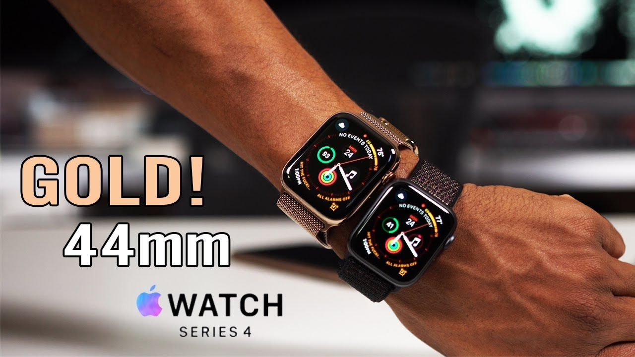 pretty nice a39ee 59bb0 Apple Watch Series 4 Gold 44mm Milanese & Why I picked 40mm Aluminum