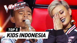 BEST Blind Auditions of The Voice Kids Indonesia S3