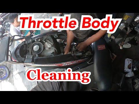 THROTTLE BODY CLEANING   HONDA BEAT FI