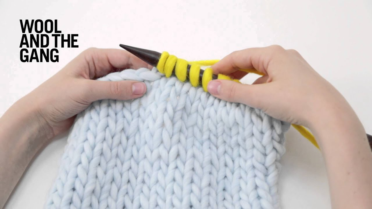 Knitting Pick Up Stitches V Neck : How to pick up stitches in knitting - YouTube