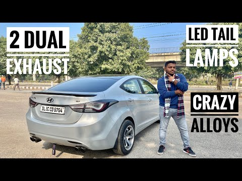 Modified Hyundai Elantra With Led Tail Lamps   Hyundai Elantra With Dual Exhaust   16 Inches Alloy