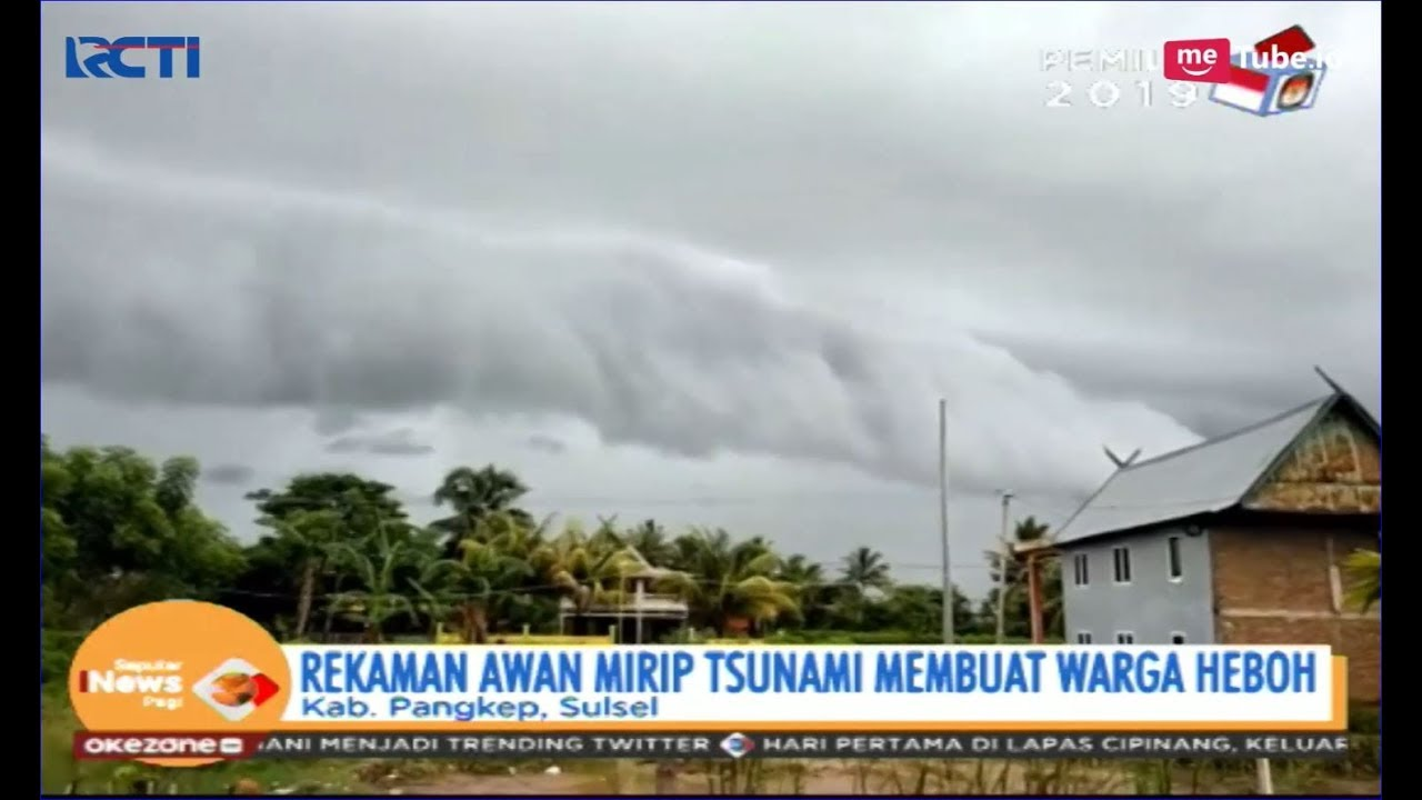 80 Gambar Awan Mirip Tsunami Terlihat Keren
