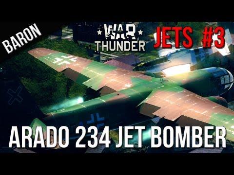 War Thunder Gameplay - War Thunder Jet Gameplay - Arado Ar 234 Jet Bomber - (Jet Jockey #3)