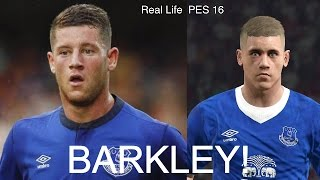 ROSS BARKLEY IN FIFA 16 AND PES 2016! (Face Review) #32