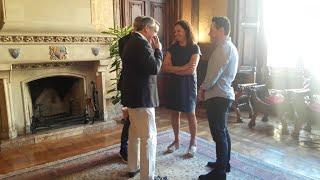 La presidenta del Consell de Mallorca, Catalina Cladera, recibe al alcalde de Sóller, Carlos Si