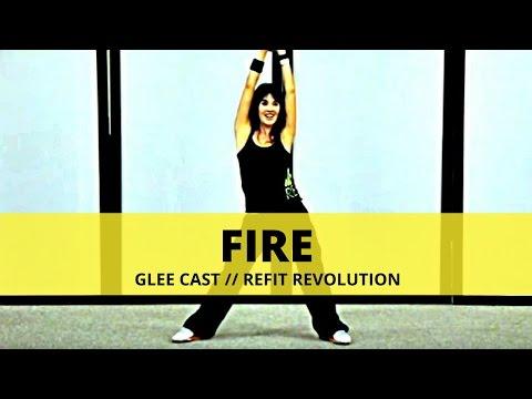 """FIRE"" (Glee Cast Version) || Glee Cast || Dance Fitness || REFIT® Revolution"