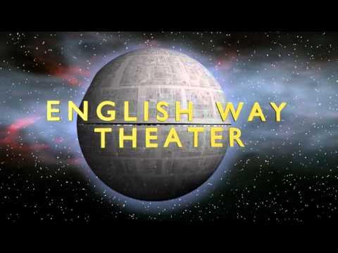 Universal Studios style Deathstar theater intro