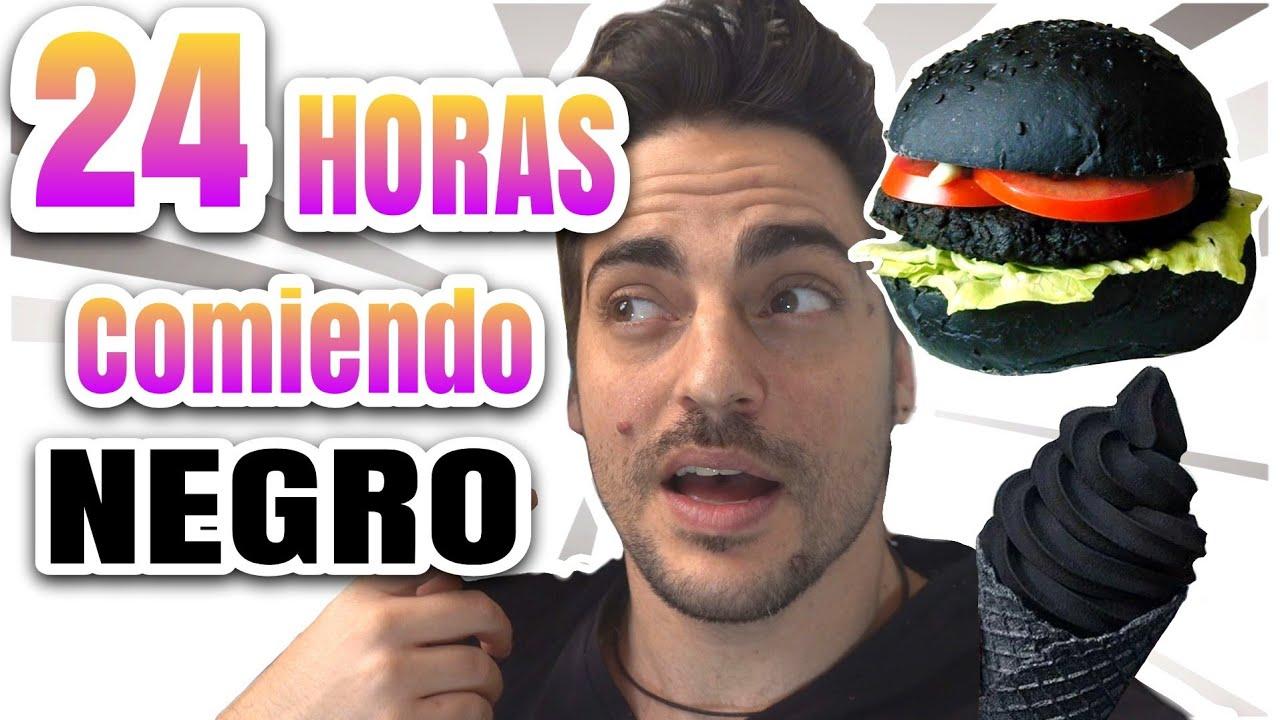 24 HORAS COMIENDO NEGRO | RETO zarolakids All Day Eating Black Food Challenge