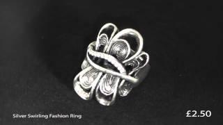 Silver Swirling Fashion Ring Thumbnail