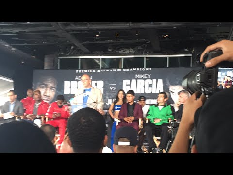Mikey Garcia Vs Adrien Broner Press Conference