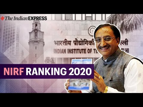 NIRF top institutes of India ranking 2020 announced by HRD Minister