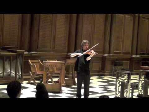 """JS Bach's """"Toccata and Fugue in D Minor"""" for solo violin (performed/arranged by Stuart Carlson)"""